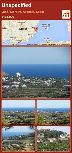 Unspecified in Land, Moraira, Alicante, Spain ►€105,000 #PropertyForSaleInSpain