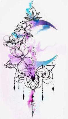 Tattoo Girls, Girl Back Tattoos, Lower Back Tattoos, Floral Mandala Tattoo, Floral Tattoo Design, Mandala Tattoo Design, Cute Tattoos, Leg Tattoos, Body Art Tattoos