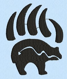 Bear and Claws Tribal Tattoo machine embroidery design by lynellen, $3.00