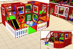 Toddler Playground - barn themed. Soft contained play area for younger children…