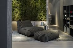 Zoe in the Outdoor Version. Design by Lievore Altherr Molina. A special piece that makes your living or garden the image of comfort and serenity. Couch, Interior Design, Architecture, Serenity, Outdoor, Furniture, Home Decor, Image, Green