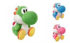 amiibo Nintendo Yarn Yoshi Wooly World Japan Green Pink Blue 3P set 3DS WiiU #Nintendo