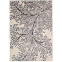 Nourison Utopia Floral Leaf Ivory Rug - Overstock™ Shopping - Great Deals on Nourison 3x5 - 4x6 Rugs