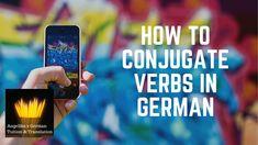 How to conjugate verbs in GERMAN