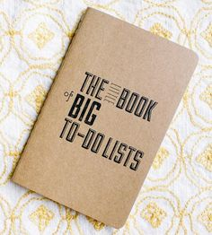 """Jot down all of your to-do's in these pocket-sized notebooks, each decorated with a letterpress design. The notebook covers are printed with a typographic layout reading, """"The little book of big to-do lists,"""" hinting at the contents inside, and it's up to you whether you'd prefer lines, grid paper or blank sheets on the interior. Plus, they're pocket-sized, making them easy to carry with you always."""
