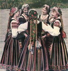 Regional costumes from Podlasie region, Poland.