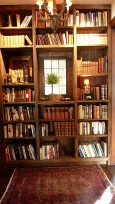 Warm bookshelves (sorry for the double--tried pinning this during the Pinterest changeover & lost it).