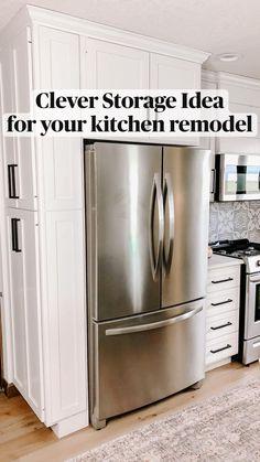 Kitchen Pantry Design, Modern Kitchen Design, Interior Design Kitchen, Kitchen Decor, Diy Kitchen Ideas, Small Kitchen Makeovers, Kitchen Layout Plans, Kitchen Pantries, Kitchen Appliances