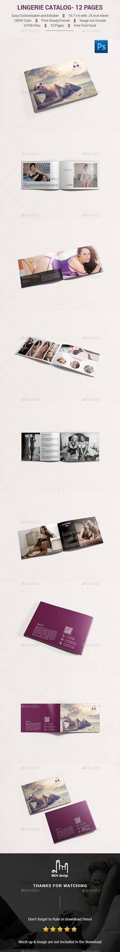 Lingerie Catalog- 12 Pages Template PSD. Download here: http://graphicriver.net/item/lingerie-catalog-12-pages/16427864?ref=ksioks