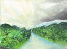 """""""Rebirth,""""  Pastel, 9x12 in.  Sarah Szabo (2012)"""