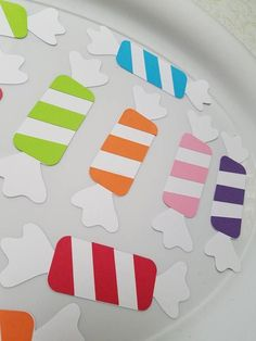 candyland decorations These candy cut out decorations will be a huge hit at your candy land or candy shoppe themed birthday party! You will receive 1 dozen of these adorable cand Candy Land Party, Lollipop Party, Candy Theme Birthday Party, Candy Land Theme, Candy Theme Classroom, Carnival Birthday, Birthday Parties, Candy Land Christmas, Christmas Crafts For Kids