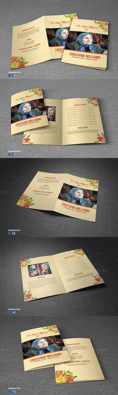 Printable Funeral Program Template. Brochure Templates. $10.00