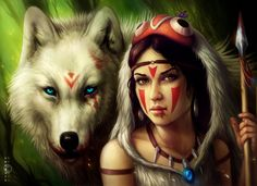 Princess Mononoke by =sanguisGelidus on deviantART  Princess Mononoke by =sanguisGelidus on deviantART  Totem Animals & Shape Shifting..IT exists if you believe it does.