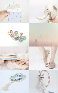 Pastel summer by Lital Alkalay on Etsy--Pinned with TreasuryPin.com
