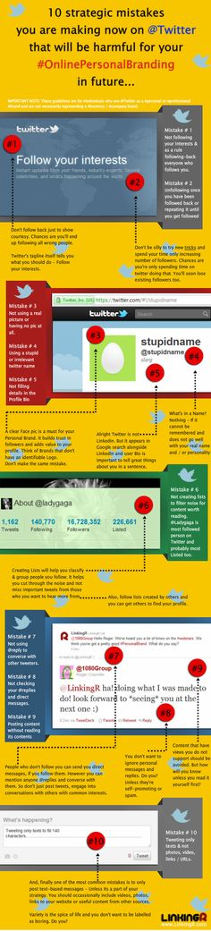 10 personal branding mistakes to avoid on twitter infographic