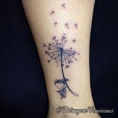 Dente de leão / Dandelion . . Feita pelo Tatuador/Tattoo Artist:  Dudupetersen…