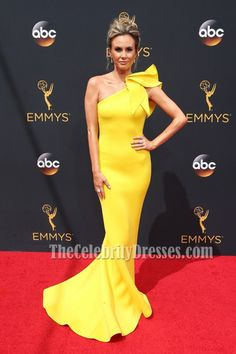 Keltie Knight Yellow One Shoulder Evening Prom Dress 68th Annual Primetime Emmy Awards - TheCelebrityDresses