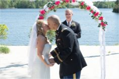 Waterfront ceremony (photo by Emily Chappell Photography)
