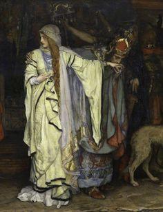 King Lear: Cordelia's Farewell (detail). 1898. Edwin Austin Abbey