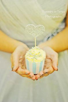Cup Cake Glitter - Cupcake heart - Bretagne - www.bcce.fr