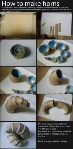 How to make horns...
