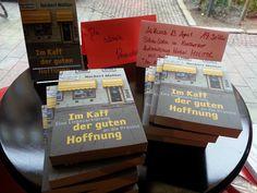 Ankündigung im Wuppertaler Glücksbuchladen. Lesung im Kontakthof.