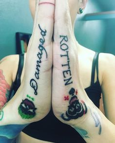 I love my suicide squad hand tattoos! Puddin and I can take from ...
