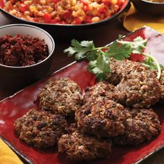 Kefta, seasoned ground meat, is one of Morocco's most popular street foods. Traditionally, kefta is washed down with a glass of sweet mint tea. It's delicious served with ratatouille.