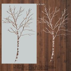 Six Foot Birch Tree Stencil design inspiration on Fab.