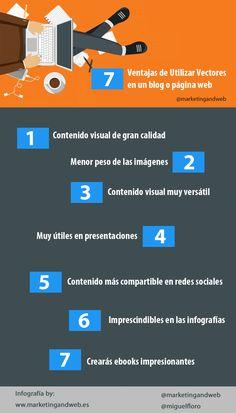 7 ventajas de usar vectores en un blog o web #infografia
