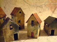 miniature abandoned house sculptures | junquegrrl | Flickr
