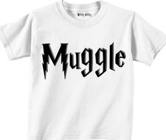 HARRY POTTER - Muggle - Non-Magic Person - Harry Potter Movie - Funny - Any Size Infant or Toddler Tshirt or Onesie - Team EtsyBaby