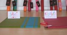 Name tags/ place cards on mats