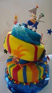 Reposteria Artistica Edible Art: Torta de Phineas & Ferb