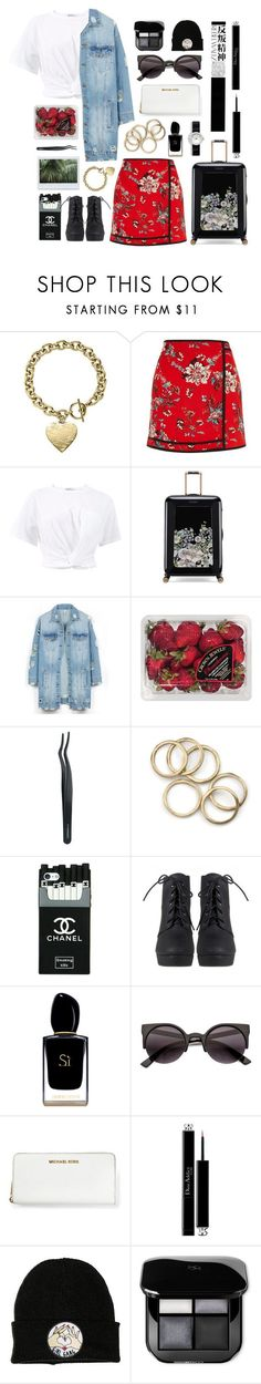 """""""screaming out your lungs all day and night"""" by transitionmetals ❤ liked on Polyvore featuring Michael Kors, River Island, T By Alexander Wang, Ted Baker, LE3NO, FRUIT, MAC Cosmetics, Giorgio Armani, Hedi Slimane and Christian Dior"""