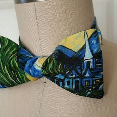 Check out this item in my Etsy shop https://www.etsy.com/listing/398735845/self-tie-bowtie-starry-night