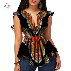 Fashion Moderne Mode Damen Tops Dashiki African Print Shirt - Dukaiko Mode The Wonders Of 925 Silver African Dresses For Women, African Print Dresses, African Attire, African Wear, African Fashion Dresses, African Dashiki, African Clothes, Modern African Dresses, African Tops For Women