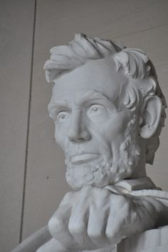 Closeup of Abraham Lincoln sculpture at the Lincoln Memorial, Washinton, D.C.