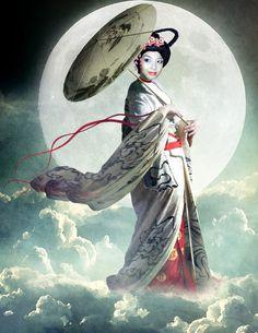 Chang'e, Goddess of the Moon by violscraper.deviantart.com on @deviantART