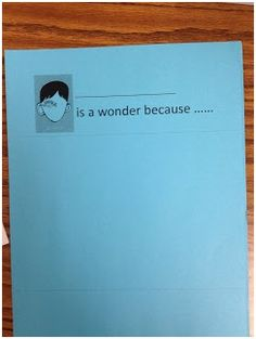 culminating activity for wonder