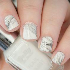 White Marble Nail Art Tutorial