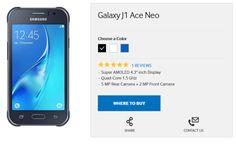 Galaxy J1 Ace Neo: Nuevo modelo de bajos recursos