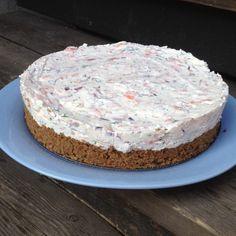 Krämig cheesecake med lax