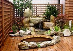 Rock Garden Ideas for Japanese Design : Small Japanese Garden Design Ideas Contemporary Garden Design, Pond Design, Modern Garden Design, Landscape Design, Small Japanese Garden, Japanese Garden Design, Japanese Gardens, Japanese Garden Backyard, Easy Garden