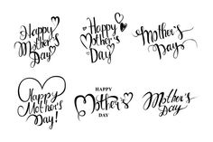 Happy Mother's day cards set. by nastyaaroma on @creativemarket