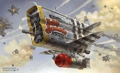 Another awesome post-apocalyptic airplane, and again, something that would look great in a Crimson Skies game.