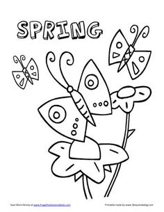 spring butterfly coloring sheet spring clip art pinterest butterfly spring and embroidery - Color Books For Toddlers