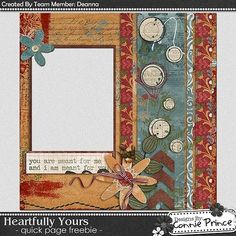 Scrapbooking TammyTags -- TT - Designer - Connie Prince, TT - Item - Quick Page