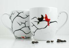 Love Birds Coffee Mugs