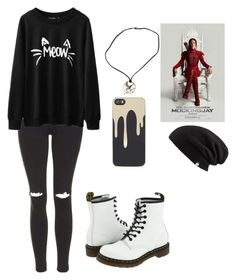 """I think I'm going to see Mockingjay Part 2 today"" by bandsformybae ❤ liked on Polyvore featuring moda, Topshop, Dr. Martens e Zero Gravity"